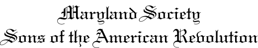 Maryland Society Sons of the American Revolution